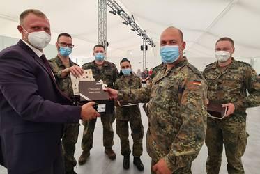 Dank an Bundeswehr für Unterstützung © Landkreis Jerichower Land