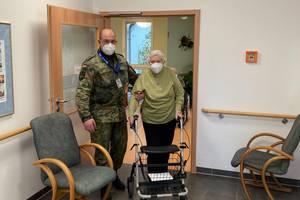 Bundeswehr unterstützt mobiles Impfteam