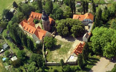 Luftbild Wasserburg zu Gommern © Stadt Gommern